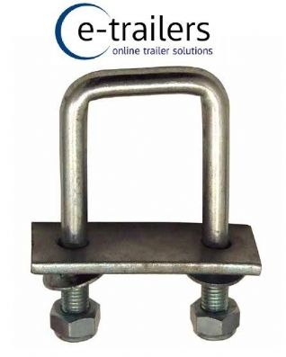 Square U Bolt high tensile with locking nuts plate and washers for boat trailers
